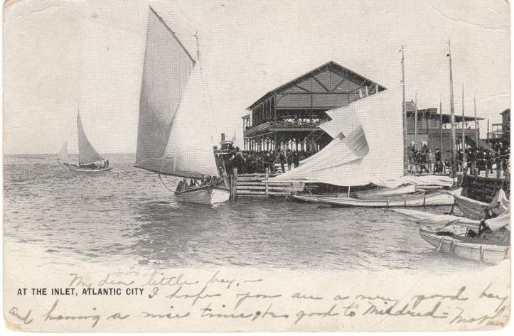 Atlantic City Inlet 1904 New Jersey Postcard
