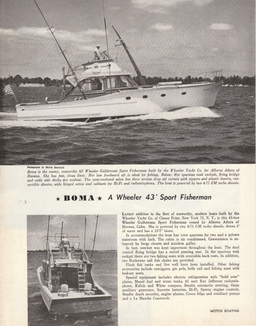1958 Wheeler sport fisherman