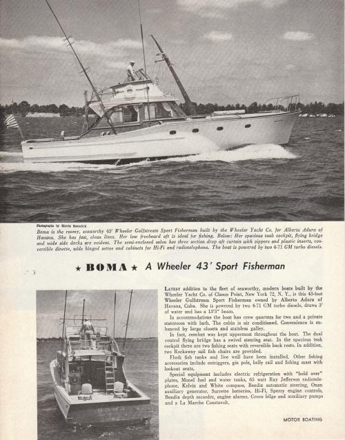 1958 Wheeler sport fisherman